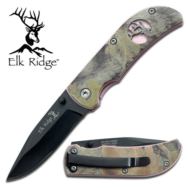Elk Ridge Camo and Pin... Brass Knuckles Folding Knife