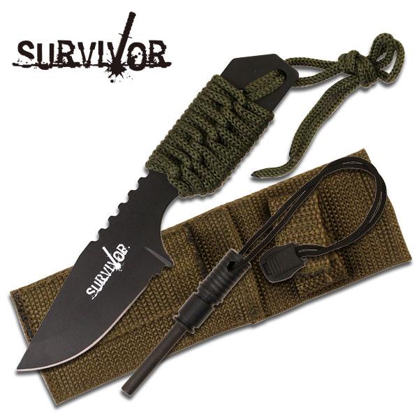 Survival Knife w/ Fire