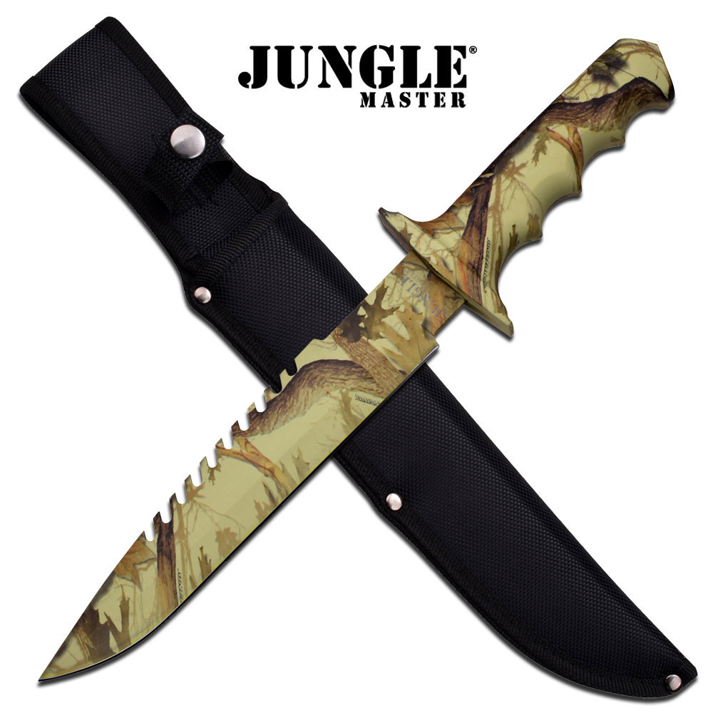 Sheaths For Knives Some Of Everything Fall 2009: FIXED BLADE KNIFE Jungle Master Camo Tan Survival Hunting