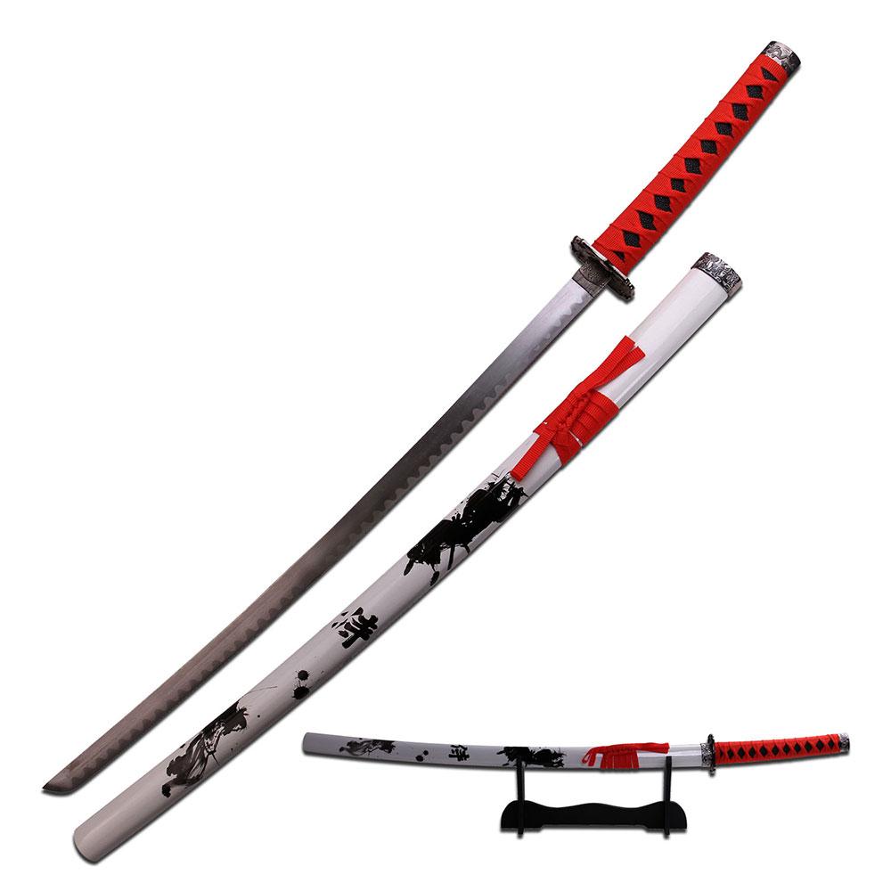 JAPANESE SAMURA... Japanese Katana Sword White