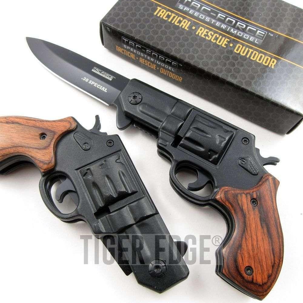 "3.25"" Blade Black .38 Special Revolver Spring-Assisted ..."