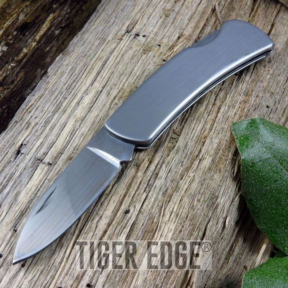 "Folding Pocket Knife | Low-Cost Small 3"" Engravable Lockback Blade Edc Gift"