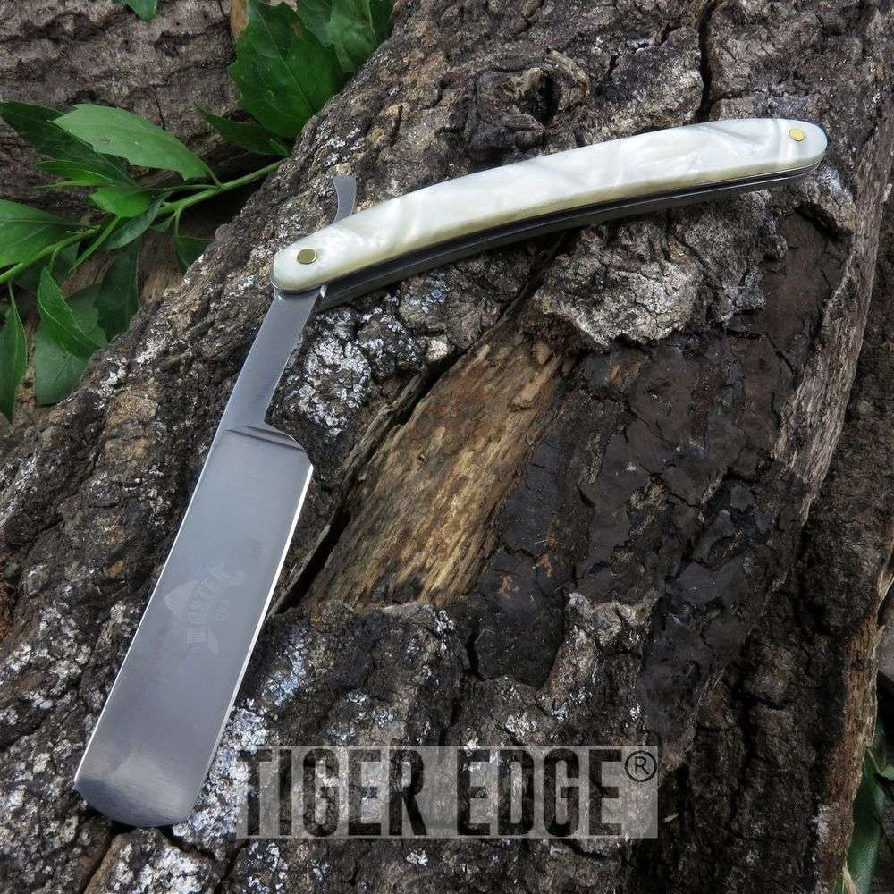 Pearl-Style Handle Barber Straight Razor Knife