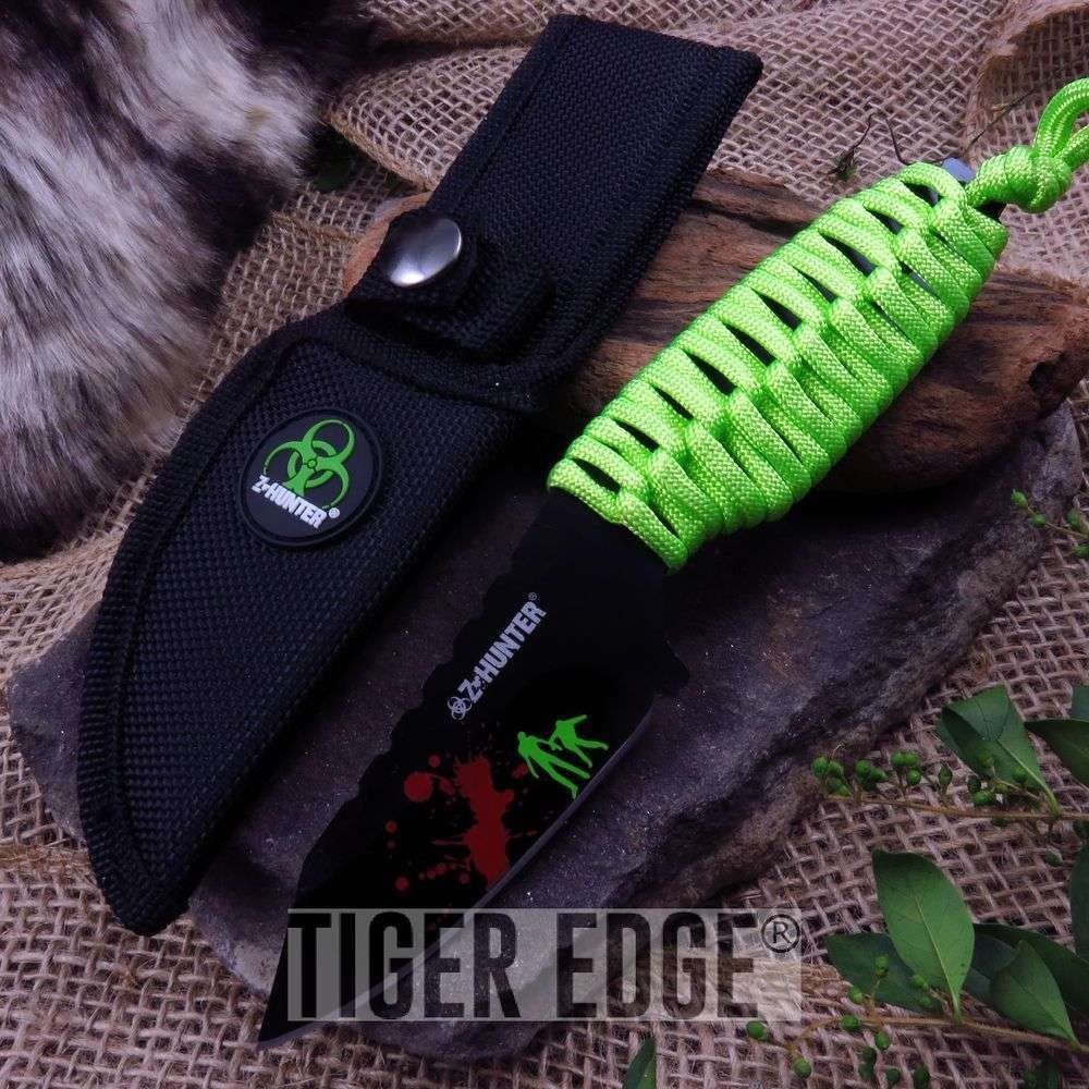 "7"" Z-Hunter Zombie Slayer 4Mm Thick Blade Survival Knife W/ Sheath"