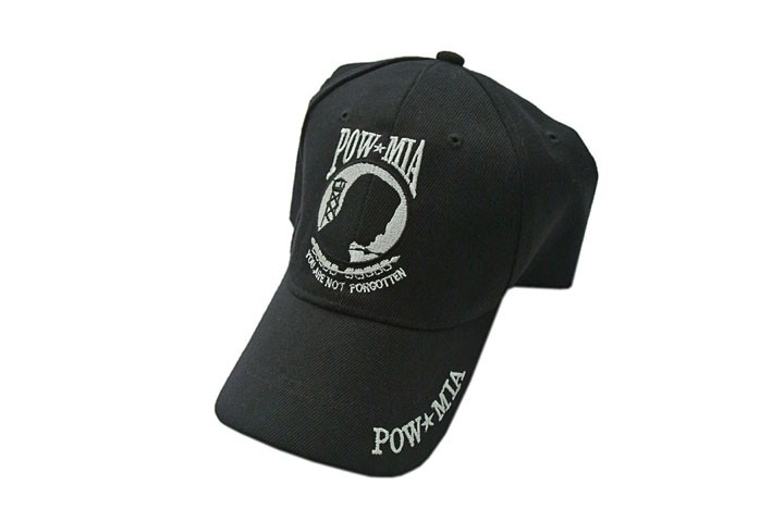 POW MIA Black Baseball Hat Cap - One Size Fits All 8365d306ffd