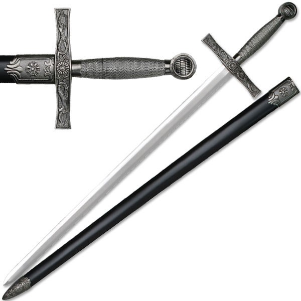 "39"" Heavy Medieval Great Sword Wire Wrapped Handle Long Sword"