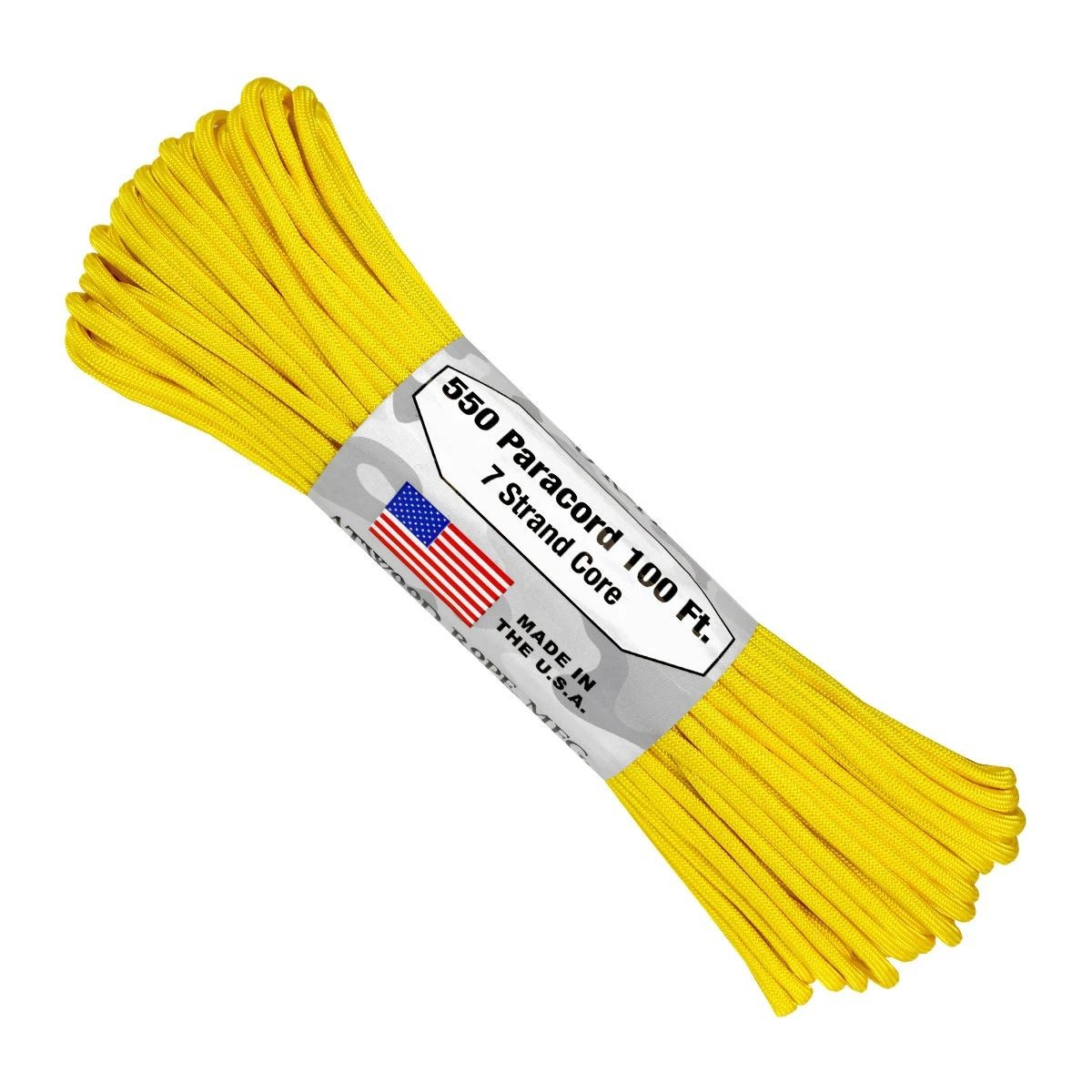 550 Paracord - 100ft - Yellow - Made in USA