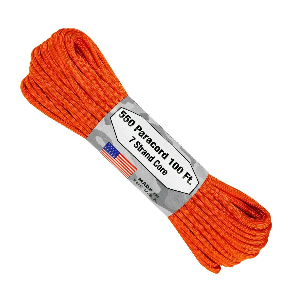 550 Paracord - 100ft - Burnt Orange - Made in USA
